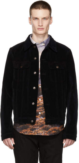 Stella McCartney Navy Cord Dirty Jacket