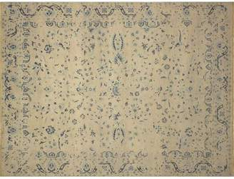 """One Allium Way One-of-a-Kind Christiansen Hand-Knotted 8'1"""" x 10'3"""" Wool Ivory Area Rug One Allium Way"""