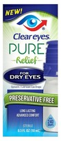 Clear Eyes Pure Relief for Dry Eyes - 0.3 oz
