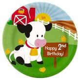 BuySeasons Barnyard 2nd Birthday Paper Dinner Plates - 8 count