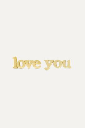Jennifer Meyer Love You 18-karat Gold Earrings