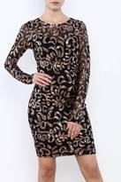 Mystic Sequin Mesh Dress