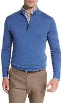 Peter Millar Merino Quarter-Zip Sweater, Hawaiian Blue
