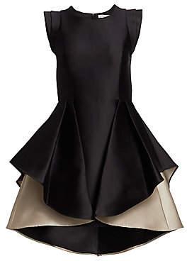 Halston Women's Structured Cap Sleeve A-Line Mini Dress - Size 0