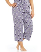 Sleep Sense Plus Zebra-Print Cropped Sleep Pants