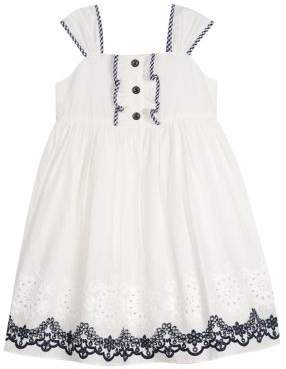 Laura Ashley Baby Girl's Embroidered Cotton Fit-&-Flare Dress