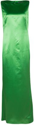 Alexander McQueen Green Silk Sleeveless Maxi Dress M
