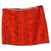 Mauro Grifoni Orange Cotton Skirt for Women