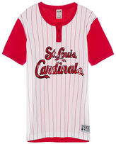 PINK St. Louis Cardinals Bling Campus Henley Tee