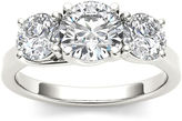 MODERN BRIDE 2 CT. T.W. Diamond 14K White Gold 3-Stone Engagement Ring