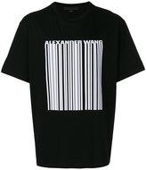 Alexander Wang welded barcode T-shirt - men - Cotton - S