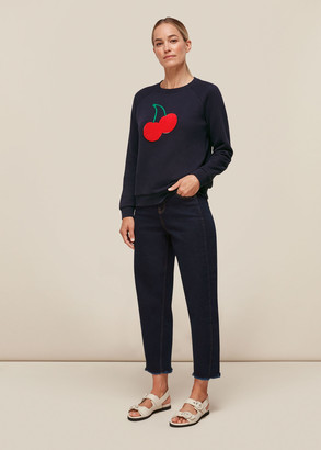 Cherry Embroidered Sweat