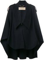 Burberry collar cape - women - Polyamide/Cashmere/Wool - S