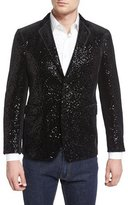Etro Allover-Sequin Sport Coat, Black
