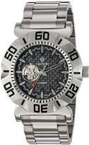 Croton Men's 'Vortex' Japanese Stainless Steel Automatic Watch, Color:Silver-Toned (Model: CA301284SSBK)