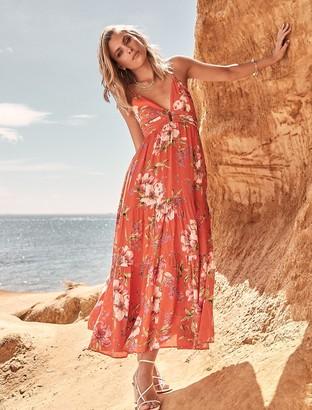 Forever New Tilly Resort Maxi Dress - Tangerine Tropical - 10