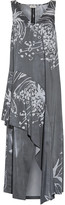 Suno Layered printed crepe midi dress