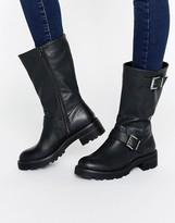 Head Over Heels By Dune Ria Buckle Biker Boots
