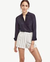 Ann Taylor Petite Striped Drapey Shorts