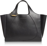 Victoria Beckham Black Leather Newspaper Tote Bag