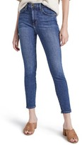 Current/Elliott Women's The Super High Waist Stiletto Crop Skinny Jeans