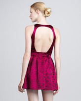 Jay Godfrey Animal-Print Keyhole-Back Dress