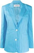 Lanvin crinkled-effect single-breasted blazer
