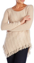raffi Cashmere Cable Fringe Sweater