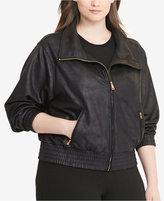 Lauren Ralph Lauren Plus Size Coated Fleece Jacket