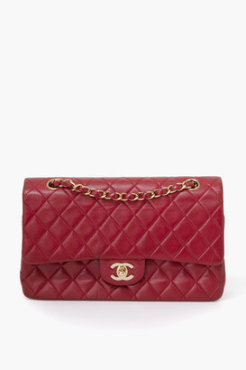 Chanel What Goes Around Comes Around Red Lambskin 2.55 10 inch Bag