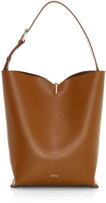 Furla Ribbon Leather Hobo Bag