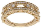 Judith Ripka 14K Gold Diamond Band Ring