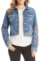Karen Kane Women's Embroidered Denim Jacket