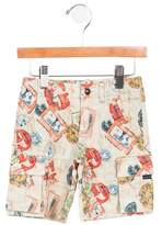Junior Gaultier Boys' Niky Printed Shorts w/ Tags