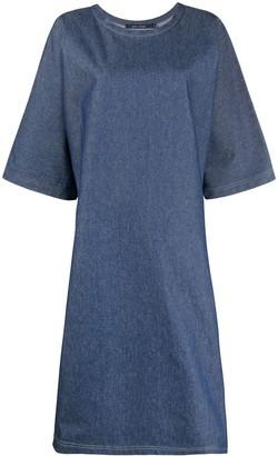 Sofie D'hoore Short-Sleeve Oversized Denim Dress