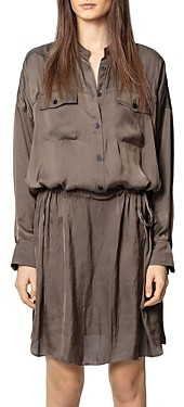 Zadig & Voltaire Button-Up Long-Sleeve Dress