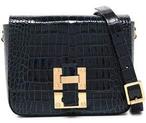 Sophie Hulme The Quick Small Croc-effect Leather Shoulder Bag