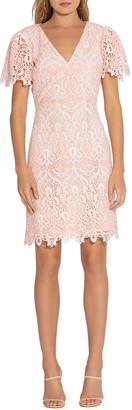 Shoshanna Ezmerelda V-Neck Lace Dress