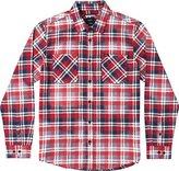 RVCA Men's Bleach Fight Long Sleeve Woven Shirt