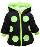 Happy Cherry Baby Boys Girls Hoodies Outerwear Jackets Warm Coat 3T
