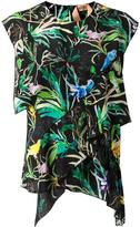 No.21 tropical print blouse - women - Silk - 40