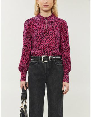 Zadig & Voltaire Titus leopard-print crepe shirt