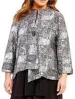 IC Collection Plus One-Button Front Asymmetrical Jacket
