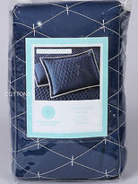Martha Stewart $60 Bedding 1078 Navy White Quilted Pillow Sham 21 X 27
