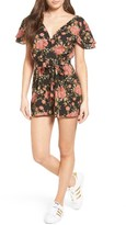 WAYF Women's Lace-Up Romper