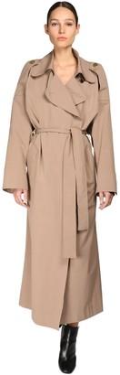 Petar Petrov Oversize Cotton & Silk Trench Coat