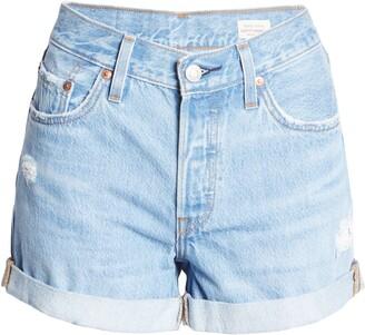 Levi's 501(R) High Waist Cuff Long Denim Shorts