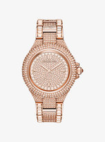 Michael Kors Camille Pave Rose Gold-Tone Watch