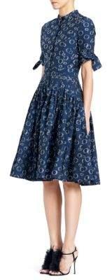 Carolina Herrera Bubble Pleated Dress