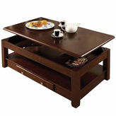 Asstd National Brand 2-Drawer Lift-Top Coffee Table